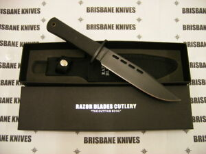 RAZOR BLADES COMMANDO TITANIUM G10 BOWIE HUNTING CAMPING FISHING KNIFE 2nds