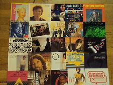 """25x 7 """" Singles Pop 80's 90's PASADENAS, Poco, POINTER SISTERS U. V. A.P65"""
