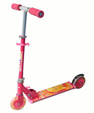 Kids Children Barbie Foldable Luminium Scooter Two Wheels With LED light