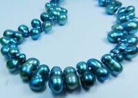 """Schöne seltsame blaue Akoya-Zuchtperlen Halskette 18 """""""