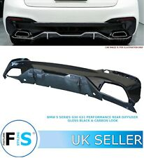 BMW 5 SERIES G30 G31 M PERFORMANCE REAR BUMPER DIFFUSER VALANCE GLOSS & CARBON
