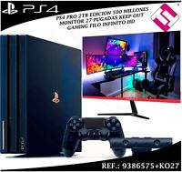VIDEOCONSOLA SONY PS4 PRO 2TB PLAYSTATION EDICION COLECIONISTA MONITOR 27 GAMING