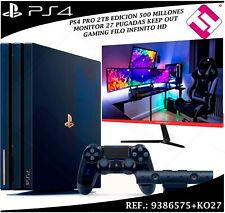 VIDEOCONSOLA SONY PS4 PRO 2TB PLAYSTATION 500 MILLONES + MONITOR 27 KEEP OUT