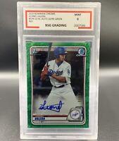 Leonel Valera 10/99 Auto 2020 Bowman Chrome Green CPA-LV BGS-9 RC LA Dodgers MLB