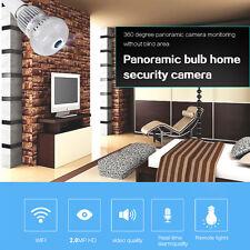 WIFI 1080P HD 2MP Panorama 360 Light Bulb IP Cam Night Vision Hidden CCTV Camera