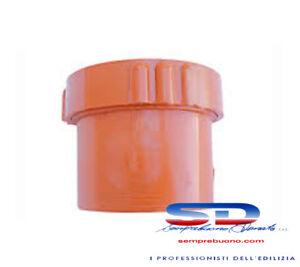 TAPPO A VITE PER TUBO IN PVC ARANCIO RACCORDO TUBO CON ISPEZIONE