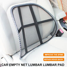 Cool Vent Cushion Mesh Back Lumbar Support Car Office Chair Truck Seat Black
