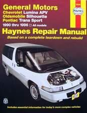 Haynes General Motors Chevrolet Lumina Apv Oldsmobile Silhouette Pontiac Trans S