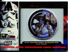 Star Wars Galactic Files Embroided Patch Relic Card PR-11 At-At Driver