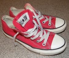 CONVERSE ALL  STARS WOMENS 6 MENS SIZE4 RED LOW TOPS