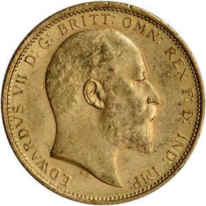 Great Britain Gold Sovereign (.2354 oz) - King Edward - XF/AU - Random Date