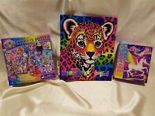 Lisa Frank Lot Hunter Leopard My Memory Book 3 Ring Binder Skye & Sticker Puzzle