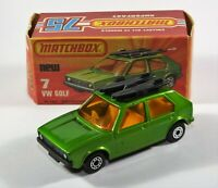 MATCHBOX SUPERFAST 1-75 No 7 VW GOLF..MINT IN EXCELLENT BOX! Matt Base 1976