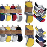 3 Pairs Men Loafer Boat Socks Invisible No Show Nonslip Low Cut Sport Casual UK