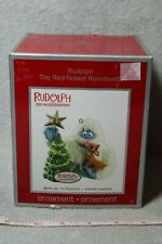"""Rare """"Rudolph The Red Nosed Reindeer"""" Holiday Ornament (Lights Up & Plays)"""