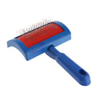 Puppy Cat Dog Grooming Slicker Dog Comb Steel Needle Brush Clean Tool Blue N#S7