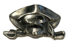 New Fine Solid Pewter Pirate Belt Buckle (Great For Tampa Bay Buccaneers Fans)