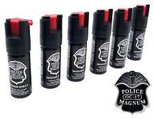 Lot of 6 Police Magnum pepper spray 1/2oz unit safety lock self defense security