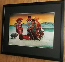 The Beatles in Hlebine by Josip Generalic, 20''x16'' frame, framed beatles print