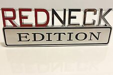 REDNECK EDITION car truck FORD EMBLEM logo decal SUV SIGN chrome RED NECK NEW 07