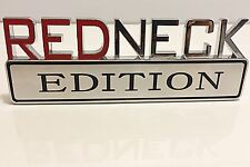REDNECK EDITION GMC car TRUCK EMBLEM LOGO DECAL SIGN CHROME RED NECK **NEW** 004