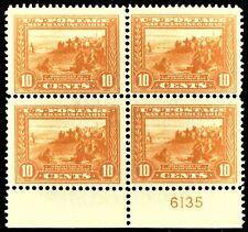 [sto129] 1913 Scott#400 10¢ PL# Block of 4 MNH  cv:$1,080 PANAMA-PACIFIC EXPO