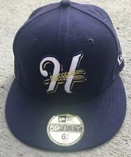 Rare Helena Brewers Minor League Baseball Fitted Cap Hat Size 6.5 Defunct Team