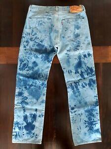 Levis 501 Domestos W34 L32 Skinhead Skin Punk Jeans Blau 34 32
