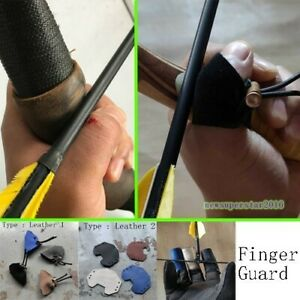 Finger Thumb Guard Cover Protect Finger Protector Cattle Leather For Archery Bow