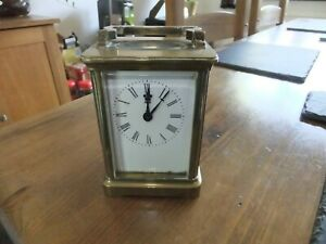 VINTAGE RICHARD AND CO FRENCH  ANTIQUE CARRIAGE CLOCK (BRASS)