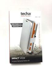 Genuine TECH 21 D30 impatto WALLET VIEW CASE COVER PER SAMSUNG GALAXY S5-Bianco