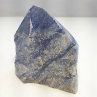 "4"" Blue Quartz Cluster Point Free Form Stone Natural Crystal Specimen Brazil"