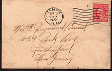 $Florida Machine Cancel Cover, Tampa, 6/16/1922, 7 wavy lines slope down