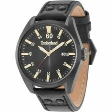 Timberland Bellingham 15025JSB/02 Men's Watch With Black Leather Strap