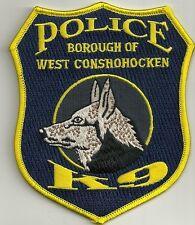 K-9 DHF WEST CONSHOHOCKEN / PA Police Patch Polizei Abzeichen Dienst-Hundeführer