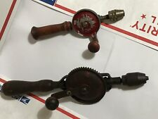 2 vintage egg beater hand drill