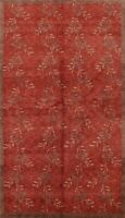 Transitional Nepal Tibetan Floral Oriental Area Rug Hand-knotted Wool Carpet 6x9