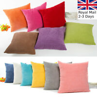 Plain Comfy Cotton Fabric Cushion Cover Throw Pillow Case Sofa Home Decor Bed