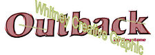 Outback by keystone RV LOGO Graphic Lettering decal 5th Wheel BURGUNDY VERSION