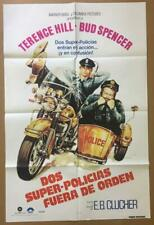 Terence Hill & Bud Spencer CRIMEBUSTERS '79 27x41 1 Sheet Org Movie Poster 1545