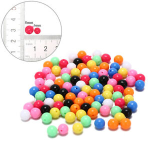 100x round fishing rig beads sea fishing lure floating float tackles 6/8mm R_yk