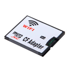 Micro SD Card TF to Wifi CF Compact Flash Memory Card Adapter For DSLR Camera
