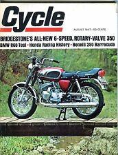 Cycle Magazine August 1967 BMW Honda Benelli EX 041717nonjhe