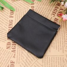 Leather Coin Pouch Snap Top Purse Strong Metal Spring Closure Small Change Bag