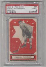 1933 34 OPC O Pee Chee Series A #34 Charlie Conacher Rookie Maple Leafs PSA 2