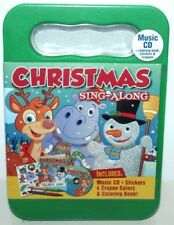CHRISTMAS SING-ALONG 20 SONGS MUSIC CD + STICKERS COLORING BOOKS CRAYONS