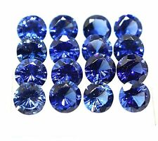 10 CT CERTIFIED NATURAL ROUND CUT 6 MM  BLUE SAPPHIRE LOT LOOSE GEMSTONE 10 Pcs