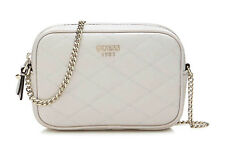 GUESS PENELOPE Mini Crossbody Top Zip Stone, Damentasche Umhängetasche Handbag