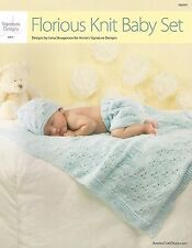 Florious Knit Baby Set Knitting Pattern Blanket Hat Soaker Annie's Toddler NEW