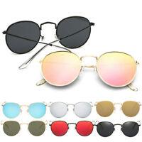 Retro Gradient Metal Frame Sunglasses Vintage Glasses Round Outdoor Eyewear UK